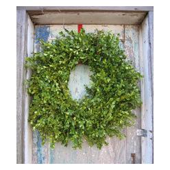 """Round Boxwood Wreath Sizes 8"""" 12"""" 16"""""""